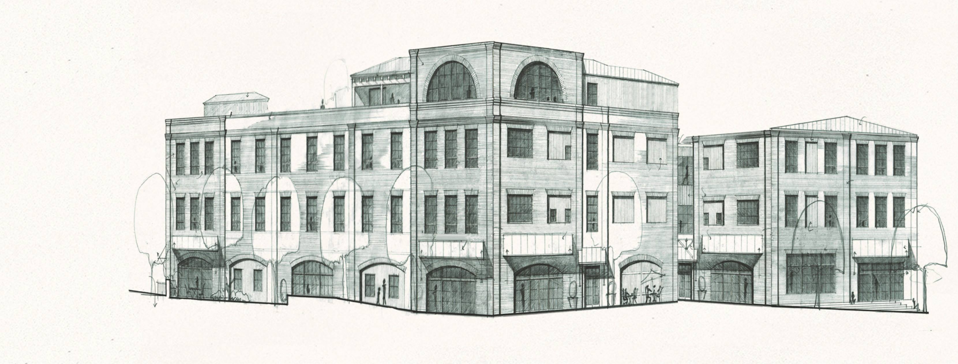 Drawing of Serenbe Textile Lofts